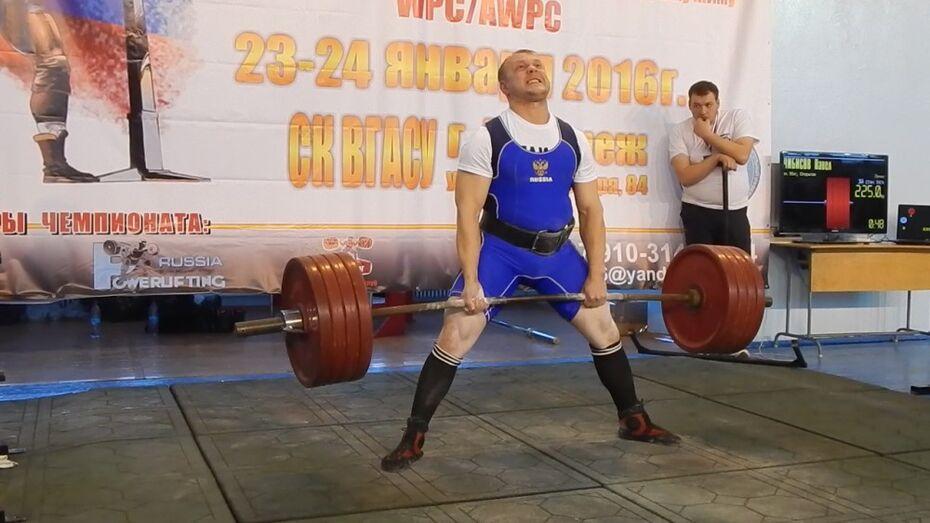 Чиновник-поэт из Таловского района стал вторым по ЦФО в становой тяге