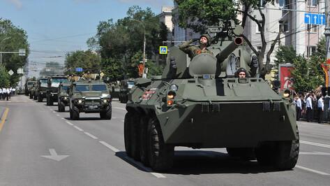 Военные полностью подготовили технику к параду Победы в Воронеже