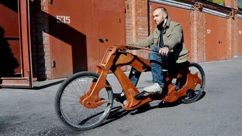 Воронежец оценил самодельный велосипед из дерева в 100 тыс рублей