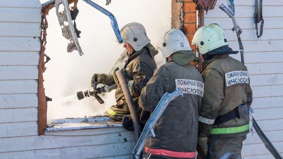 В Лискинском районе при пожаре погиб человек