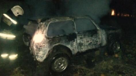 В Воронеже на Левом берегу ночью сгорела «Нива»