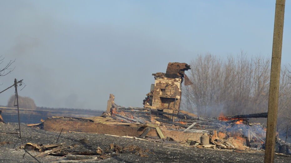 В Терновском районе сгорели 8 нежилых домов и 3 га травы