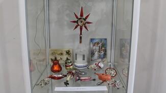 В Хохольском районе открылась выставка редких новогодних игрушек советского времени