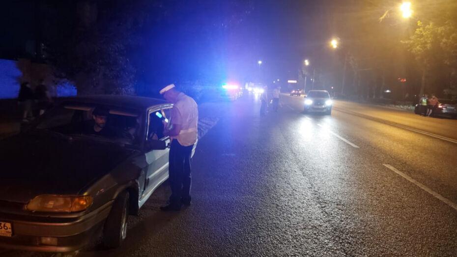 В Воронеже ночью пятницы поймали 5 пьяных водителей