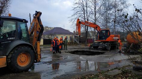 В Воронеже восстановили поврежденный водовод на левом берегу