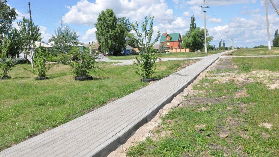 В репьевском селе проложат тротуар