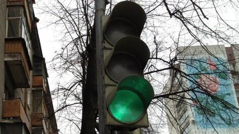 Режим работы светофоров в Воронеже изменили из-за закрытия виадука на 9 Января
