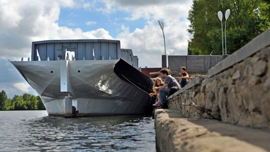 Корабль «Гото Предестинация» встал на якорь у Адмиралтейской площади в Воронеже