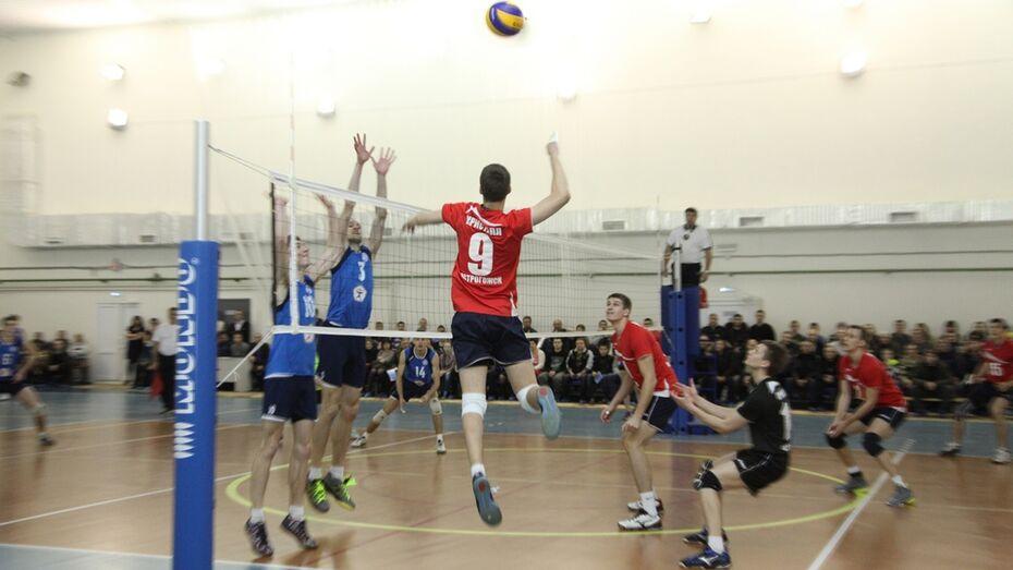 Острогожский «Кристалл» выиграл домашний этап волейбольного чемпионата ЦФО