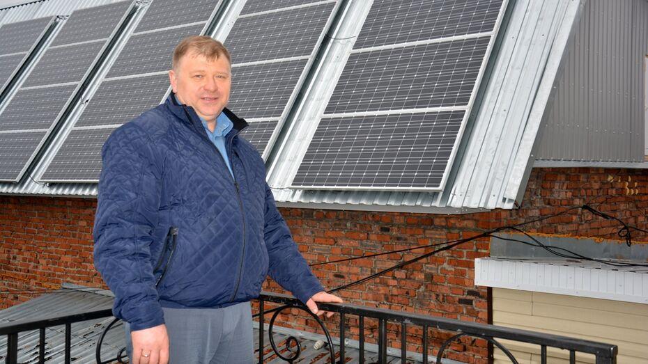 Поворинский предприниматель на 70% снизил расходы на электроэнергию за счет солнечных батарей