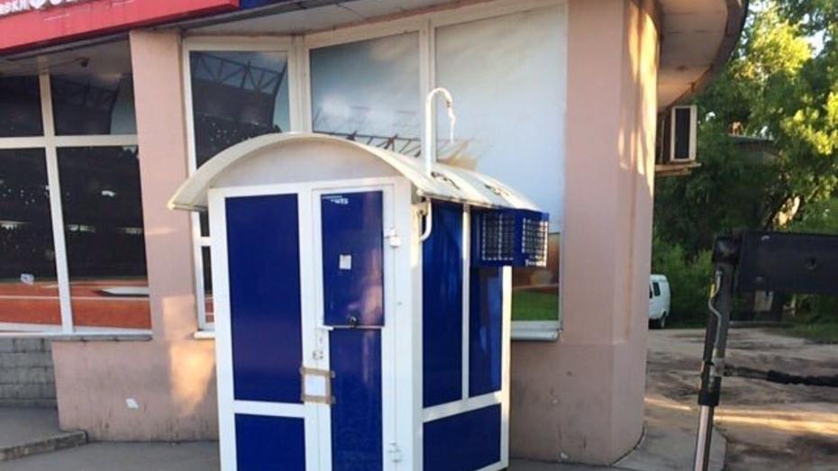 В Воронеже демонтировали игровой автомат рядом с остановкой «Газовая»