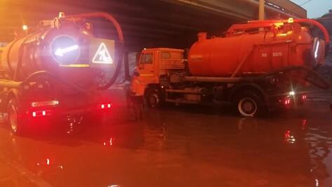 Движение на Московском проспекте в Воронеже закроют для откачки воды