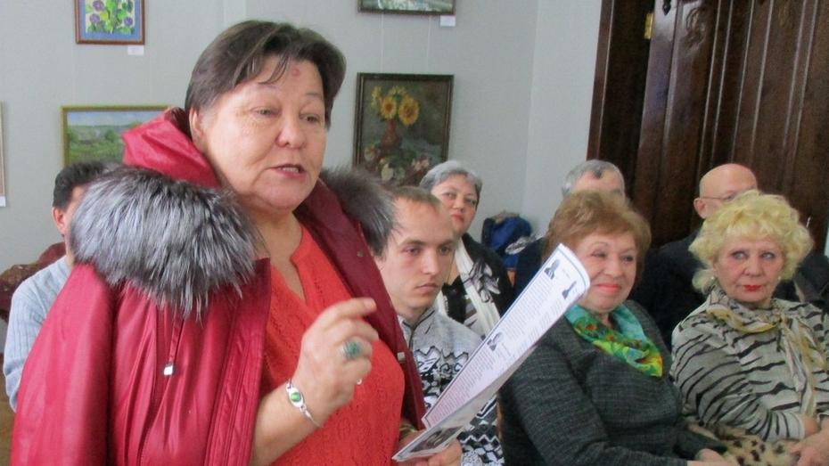 Лискинцев пригласили на творческий вечер местной жительницы