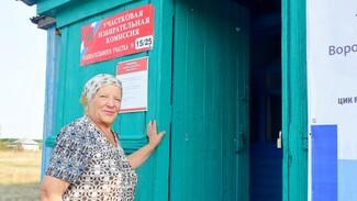 В Грибановском районе в выборах поучаствовала 80-летняя почетная жительница