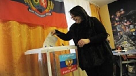 В Воронеже избиратели пришли на выборы глав ЛНР и ДНР с грудными детьми