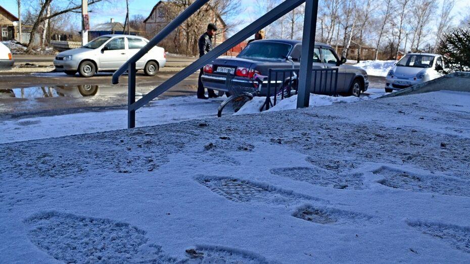 В Грибановском районе выпал снег
