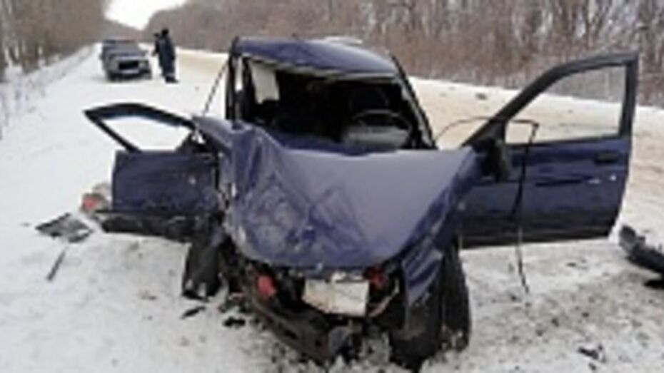 В Новоусманском районе столкнулись фура Volvo и Mersedes