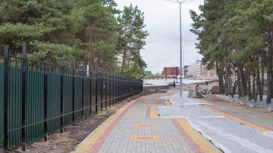 В Лисках завершили первый этап строительства набережной