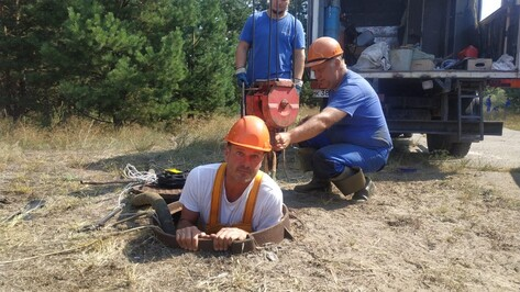 В Северном микрорайоне Воронежа ликвидировали повреждение водопровода