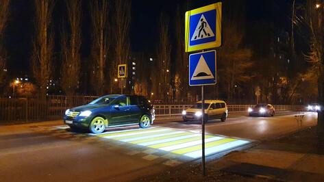 Первая «зебра» с подсветкой появилась в Воронеже