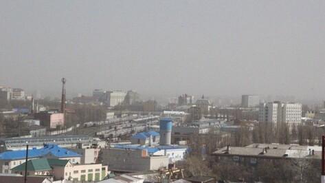 В Воронеже сильный ветер поднял пыльную бурю