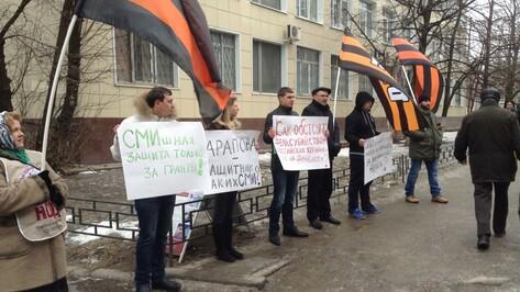 Воронежские активисты НОД вышли на акцию против Центра защиты прав СМИ