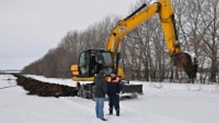 В Эртильском районе началось строительство трех межпоселковых газопроводов