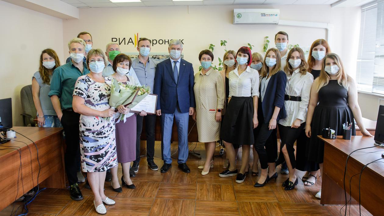 Губернатор Воронежской области посетил редакцию холдинга РИА «Воронеж»