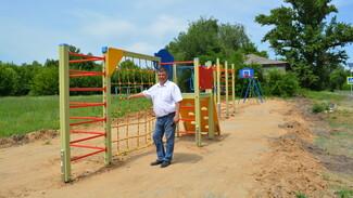 В петропавловском селе Новобогородицкое общественники сделали спортивную площадку