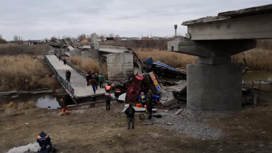 В Воронежской области обрушился мост через реку Савала
