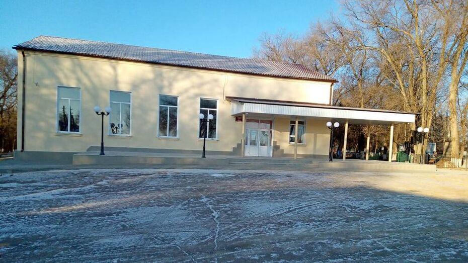 Центр культуры в верхнемамонском селе Гороховка впервые капитально отремонтировали