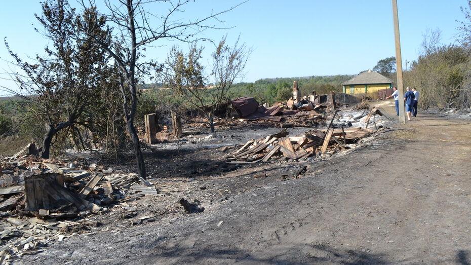 Пожар за 4 часа уничтожил в Воронежской области половину сельской улицы