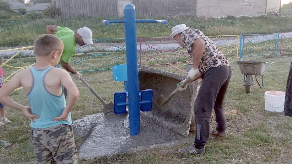 Уличные тренажеры для детей и подростков установили в репьевском селе Истобное