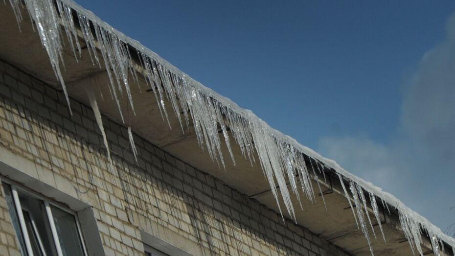 Спасатели предупредили воронежцев о возможном падении сосулек с крыш из-за потепления