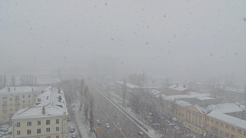 Взгляд из соцсетей. В Воронеже первая гроза сменилась снегопадом