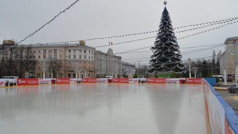 Открытие катка на площади Ленина в Воронеже перенесли