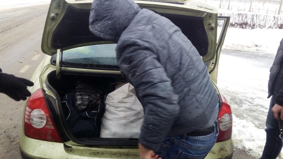 Внук жительницы Воронежской области попался с килограммом марихуаны