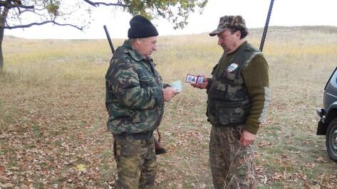 Подгоренские охотоведы задержали охотников без документов