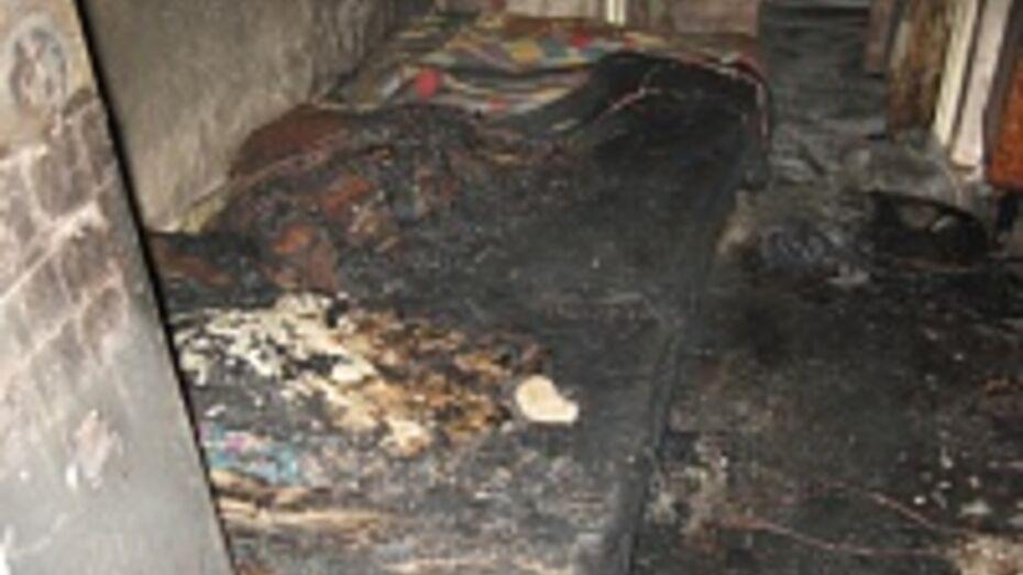 На пожаре в частном секторе сильные ожоги получил 36-летний воронежец