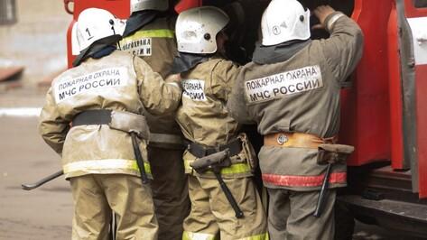 На трассе под Воронежем загорелась иномарка