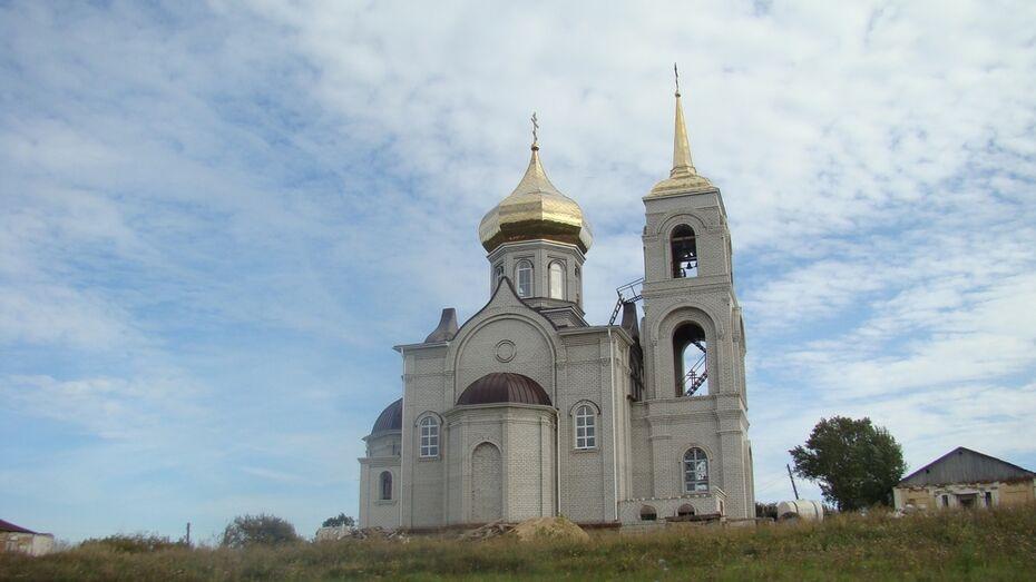 Новый храм через 78 лет после разрушения старого построили в хохольском селе Семидесятное