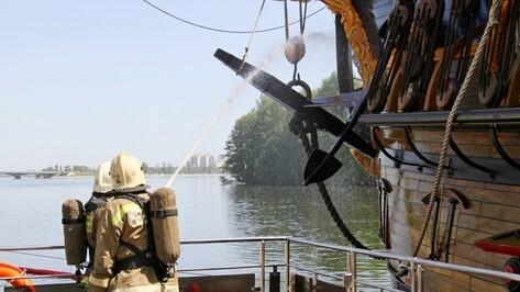 Воронежские спасатели ликвидировали условный пожар на «Гото Предестинации»