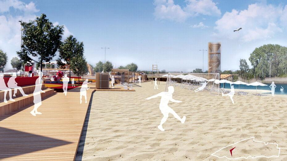«Царский» пляж появится в Воронежской области к октябрю 2021 года