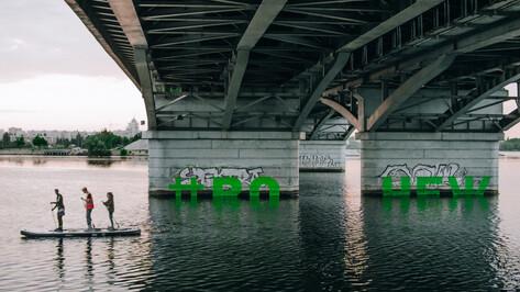 Воронежский художник создал злободневные граффити