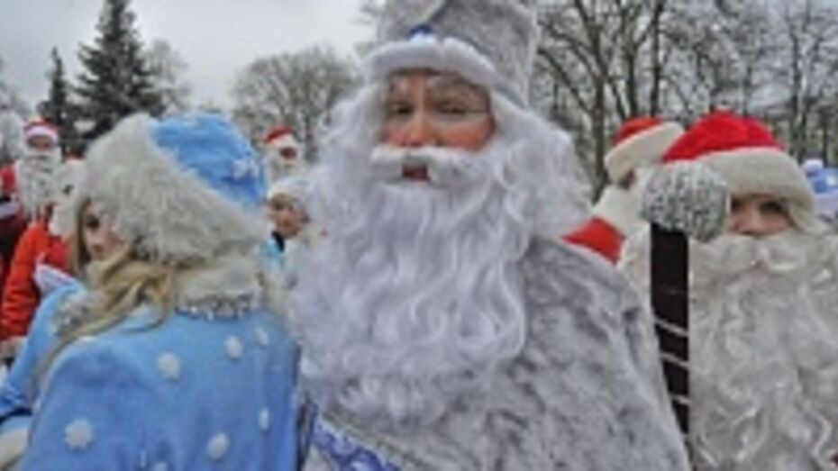 В воскресенье Деды Морозы на роликовых коньках будут поздравлять воронежцев с Новым годом и дарить конфеты