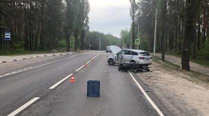 Появились снимки смертельного ДТП с мотоциклистом в Воронеже