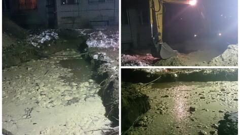 В воронежском микрорайоне Лесная поляна строители повредили водопровод