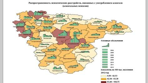 В Бутурлиновке, где есть водочный завод, самый высокий уровень алкогольных психозов в области