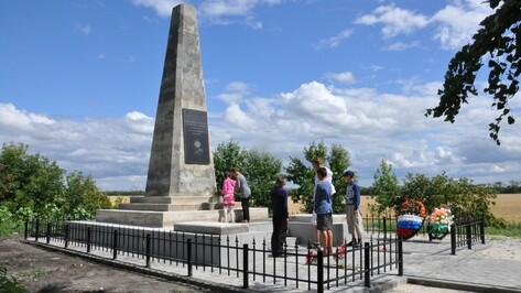 В Эртильском районе отремонтировали памятник погибшим в годы Гражданской войны красноармейцам