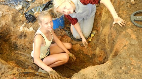 Репьевские школьники нашли сарматское захоронение